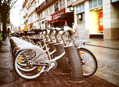 Velib. Станция проката велосипедов