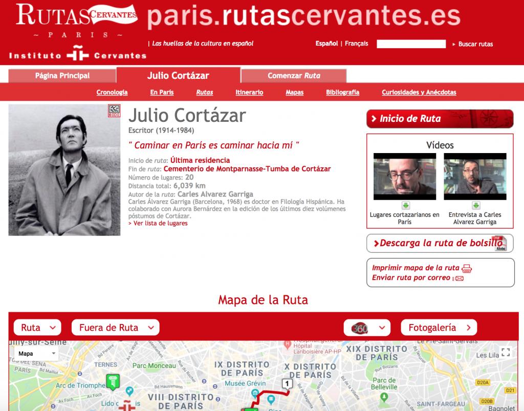 Хулио Кортасар, места в Париже